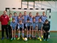 Wygrane eliminacje gminne rozgrywek LZS w piłkę nożną halową chłopców w Wiśniowie Ełckim