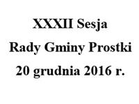 Zaproszenie. XXXII sesja Rady Gminy Prostki